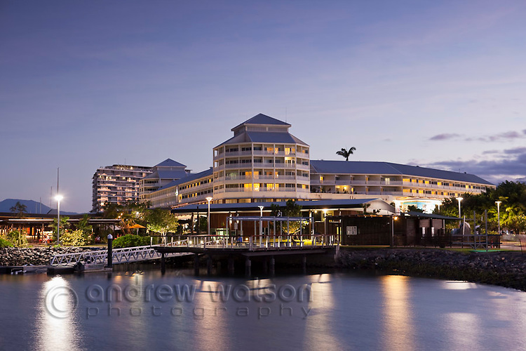 The Shangri-La Hotel at The Pier.  Marina Point, Cairns, Queensland, Australia