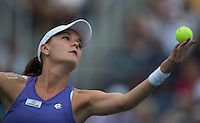 Agnieszka Radwanska..Tennis - US Open - Grand Slam -  New York 2012 -  Flushing Meadows - New York - USA - Monday 3rd September  2012. .© AMN Images, 30, Cleveland Street, London, W1T 4JD.Tel - +44 20 7907 6387.mfrey@advantagemedianet.com.www.amnimages.photoshelter.com.www.advantagemedianet.com.www.tennishead.net
