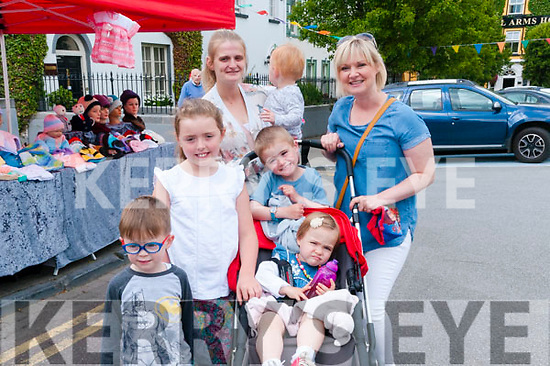 Family Fun Day : Attending the family fun day in Listowel on Sunday last were Tadgh Hickey, Aofe Sheehy & Darren, Clodagh Deidre O'Connor. Back Linda Holly & Josh Hickey.