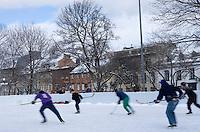 Amérique/Amérique du Nord/Canada/Québec/ Québec: Partie de  Hockey sur glace dans la Ville Haute