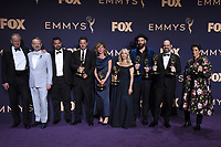 LOS ANGELES - SEP 22:  Chernobyl Cast and Crew at the Emmy Awards 2019: PRESS ROOM at the Microsoft Theater on September 22, 2019 in Los Angeles, CA