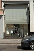 Italian window display in Mestre, Italy.