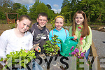 Pupils of Scoil Naomh, Ballyheigue  at Kerry earth day in Tralee town Park on Sunday from Left Meave Keane, David Rice, Carda Supple and Czara Casey.