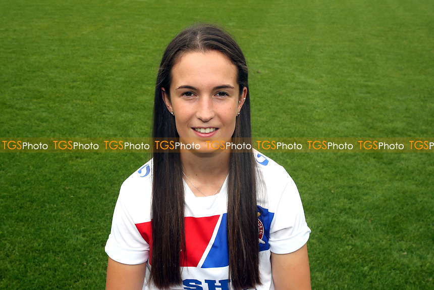Daggers Ladies 2017/18 head and shoulder pictures during the Dagenham & Redbridge FC Press Day at the Chigwell Construction Stadium on 29th July 2017