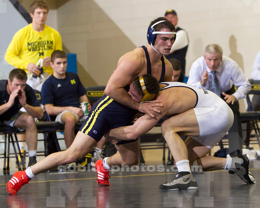 The No. 13 University of Michigan wrestling team beat No. 18 Pittsburgh, 16-15, at Cliff Keen Arena in Ann Arbor, Mich., on November 11, 2012.