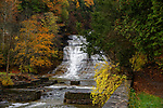 Autumn view of Buttermilk Falls, New York, USA