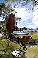 Campbell Maud, Water Source, Shapeshifter 2014, Civic Gardens, Lower Hutt, Wellington, New Zealand on Sunday 2 March2014.<br /> Photo by Masanori Udagawa.<br /> www.photowellington.photoshelter.com.