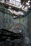 Inside decaying Buzludzha monument former communist party headquarters, Bulgaria