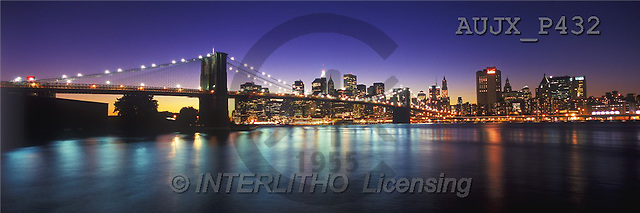 Dr. Xiong, LANDSCAPES, panoramic, photos, New York City at Sunset, USA(AUJXP432,#L#)