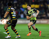 Joey Carbery of Leinster Rugby in possession. European Rugby Champions Cup match, between Northampton Saints and Leinster Rugby on December 9, 2016 at Franklin's Gardens in Northampton, England. Photo by: Patrick Khachfe / JMP