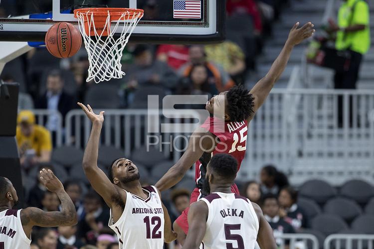 LAS VEGAS, NV - March 8, 2017: Stanford Cardinal Men's Basketball team vs. the Arizona State Sun Devils.  Final Score: Stanford Cardinal 88, Arizona State Sun Devils 98
