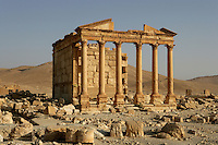 House Tomb, also known as Funerary Temple, western end of Great Colonnade, late 3rd century AD, Palmyra, Syria Picture by Manuel Cohen