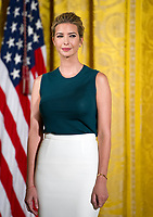 Ivanka Trump listens as United States President Donald J. Trump participates in an event with small businesses in the East Room of the White House in Washington, DC on Tuesday, August 1, 2017.. Photo Credit: Ron Sachs/CNP/AdMedia
