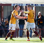 30.03.2019 Motherwell v St Johnstone: David Turnbull celebrates with Chris Cadden