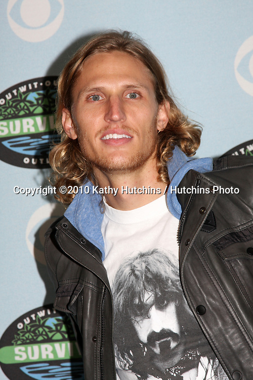 """Tyson Apostol.arrivng at the """"Survivor"""" 10 Year Anniverary Party .CBS Television CIty.Los Angeles, CA.January 9, 2010.©2010 Kathy Hutchins / Hutchins Photo...."""
