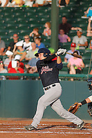 Tampa Yankees catcher Kyle Higashioka (25) at bat during a game against the Daytona Tortugas at Radiology Associates Field at Jackie Robinson Ballpark on June 13, 2015 in Daytona, Florida. Tampa defeated Daytona 8-6. (Robert Gurganus/Four Seam Images)