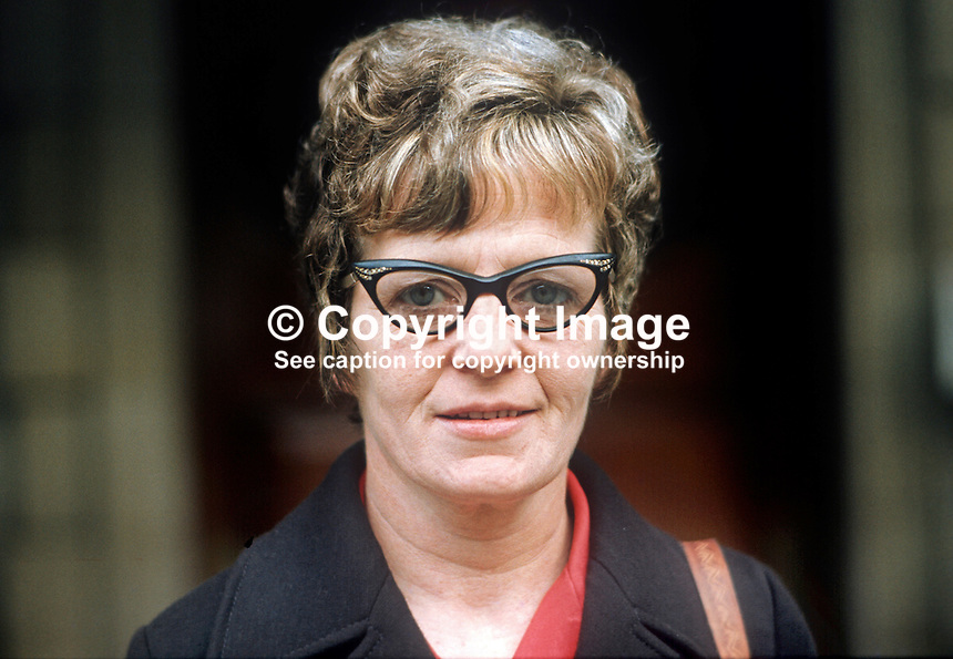 Kitty O'Kane, candidate, West Belfast, Republican Clubs, in UK General  Election, October 1974. 197410000531<br />