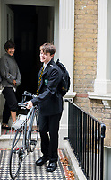 Felix on his first day of School. London, England, Great Britain