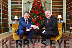 Pat Dawson welcomes Kerry County Council Chairman John Sheahan to Killarney House for the Council's December meeting on Monday