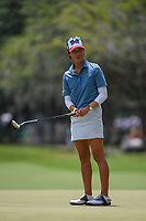 Celine Boutier (FRA) watches her putt on 4 during round 3 of the 2019 US Women's Open, Charleston Country Club, Charleston, South Carolina,  USA. 6/1/2019.<br /> Picture: Golffile | Ken Murray<br /> <br /> All photo usage must carry mandatory copyright credit (© Golffile | Ken Murray)