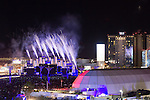 Fireworks by Grucci's 1 minute fireworks display at the inaugural Rock in Rio Rock Weekend in Las Vegas Nevada 05-10-2015 Larry Burton, Burtonphoto@gmail.com