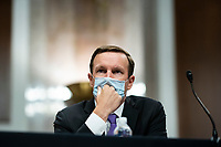 United States Senator Chris Murphy (Democrat of Connecticut), listens during a Senate Health, Education, Labor and Pensions Committee hearing in Washington, D.C., U.S., on Tuesday, June 30, 2020. Top federal health officials are expected to discuss efforts to get back to work and school during the coronavirus pandemic. <br /> Credit: Al Drago / Pool via CNP /MediaPunch