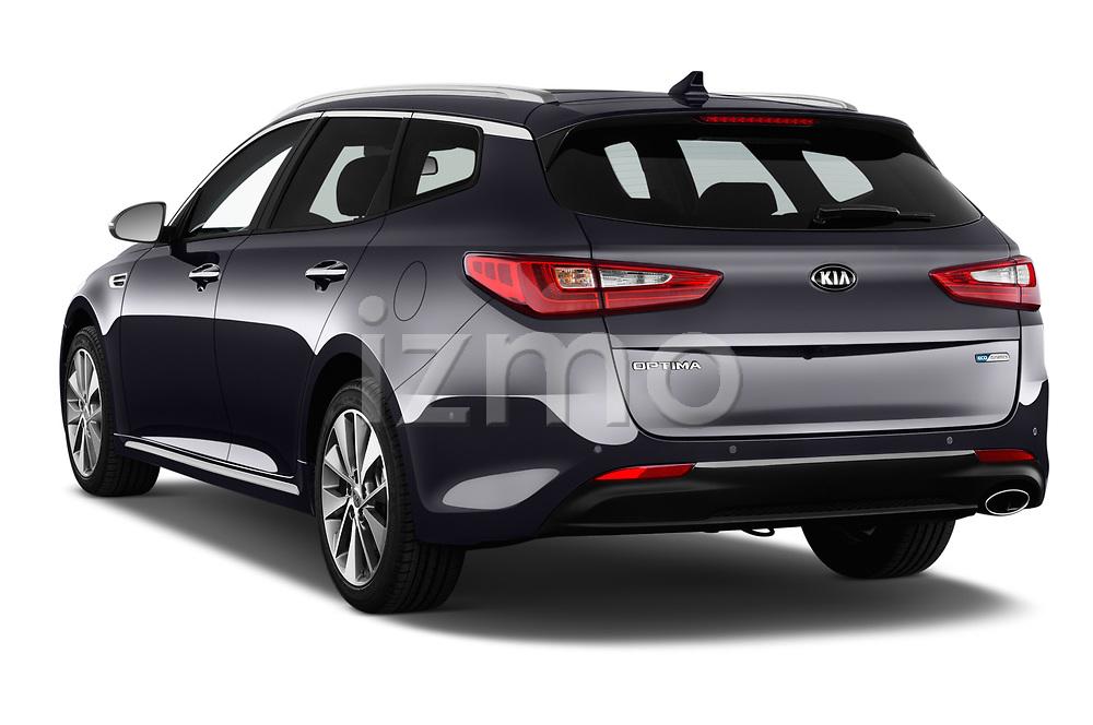 Car pictures of rear three quarter view of a 2017 KIA Optima Sportswagon Sense 5 Door Wagon angular rear