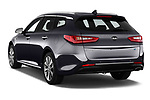 Car pictures of rear three quarter view of a 2017 KIA Optima Sportswagon Sense 5 Door Wagon angular rear