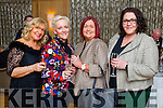 Marie Baker, Jill Hannon, Mags Kissane and Ciara O'Donnell, pictured at a talk presented by Holocaust survivor Eva Schloos, at Ballygarry House Hotel & Spa, Tralee on Tuesday evening last.