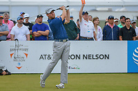 Tyler Duncan (USA) watches his tee shot on 2 during round 4 of the AT&T Byron Nelson, Trinity Forest Golf Club, at Dallas, Texas, USA. 5/20/2018.<br /> Picture: Golffile | Ken Murray<br /> <br /> All photo usage must carry mandatory copyright credit (© Golffile | Ken Murray)