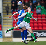St Johnstone v Hibs....05.03.11 .David Wotherspoon and Liam Craig.Picture by Graeme Hart..Copyright Perthshire Picture Agency.Tel: 01738 623350  Mobile: 07990 594431