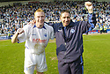 14/04/2007       Copyright Pic: James Stewart.File Name : sct_jspa05_raith_rovers_v_morton.MORTON' CAPTAIN STUART GREACEN AND MANAGER JIM MCINALLY CELEBRATE WINNING THE LEAGUE....James Stewart Photo Agency 19 Carronlea Drive, Falkirk. FK2 8DN      Vat Reg No. 607 6932 25.Office     : +44 (0)1324 570906     .Mobile   : +44 (0)7721 416997.Fax         : +44 (0)1324 570906.E-mail  :  jim@jspa.co.uk.If you require further information then contact Jim Stewart on any of the numbers above.........
