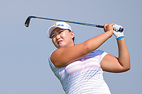 Mirim Lee (KOR) watches her tee shot on 16 during Thursday's first round of the 72nd U.S. Women's Open Championship, at Trump National Golf Club, Bedminster, New Jersey. 7/13/2017.<br /> Picture: Golffile | Ken Murray<br /> <br /> <br /> All photo usage must carry mandatory copyright credit (&copy; Golffile | Ken Murray)