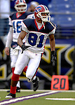 31 December 2006: Buffalo Bills wide receiver Peerless Price (81) warms up prior to a game against the Baltimore Ravens at M&T Bank Stadium in Baltimore, Maryland. The Ravens defeated the Bills 19-7. Mandatory Photo Credit: Ed Wolfstein Photo.<br />