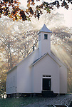 Morning Light, Missionary Baptist Church, Cades Cove, Great Smoky Mountains National Park