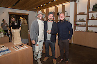 Darren Gold, Cory Lashever and Raan Parton attend the West Hollywood Design District A Street Af(fair) Opening Party at Jenni Kayne on April 29, 2016 (Photo by Inae Bloom/Guest of a Guest)