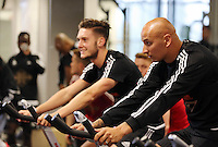 Pictured L-R: Matt Grimes, Jonjo Shelvey Sunday 28 June 2015<br />