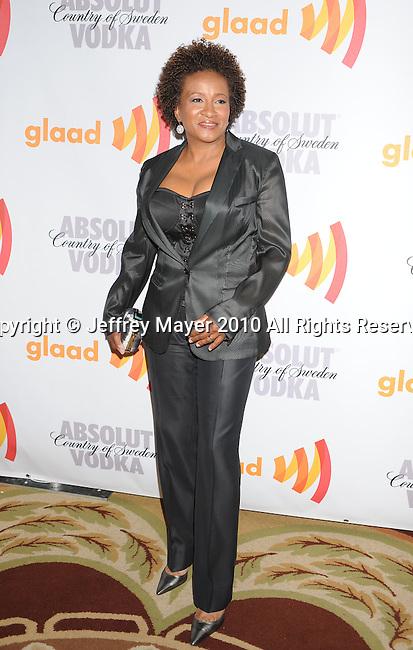 CENTURY CITY, CA. - April 17: Wanda Sykes  arrives at the 21st Annual GLAAD Media Awards at the Hyatt Regency Century Plaza Hotel on April 17, 2010 in Los Angeles, California.