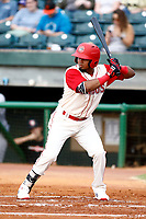 Chattanooga Lookouts Luis Arraez (1) at bat during the game against the Pensacola blue Wahoo on July 27, 2018 at AT&T Field in Chattanooga, Tennessee. (Andy Mitchell/Four Seam Images)