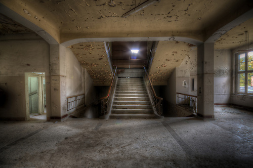 An abandoned hospital somewhere in Thuringia.<br />