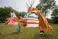 Dancing in Regalia at the Nanticoke Lenni-Lenapi Indian Pow Wow