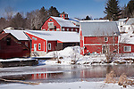 Adams Mill village, Stowe, VT, USA