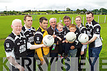 Members of the Ardfert Football team pictured on Friday, the only club in Kerry that a team from Tyrone are visiting for a charity penalty shootout, from left: Cianán Ferris, Eamon Corridon, Nicola O'Sullivan, Joe Wallace, Henry Wallace, Jeremiah Clifford, Tiernan O'Sullivan, Ruth Wallace and Johnny Stack..