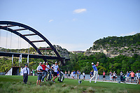 Dustin Johnson (USA) watches his tee shot on 13 during round 7 of the World Golf Championships, Dell Technologies Match Play, Austin Country Club, Austin, Texas, USA. 3/26/2017.<br /> Picture: Golffile | Ken Murray<br /> <br /> <br /> All photo usage must carry mandatory copyright credit (&copy; Golffile | Ken Murray)