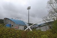 A general view of the John Smith's Stadium, home of Huddersfield Town<br /> <br /> Photographer Alex Dodd/CameraSport<br /> <br /> The EFL Sky Bet Championship - Huddersfield Town v Preston North End - Friday 14th April 2016 - The John Smith's Stadium - Huddersfield<br /> <br /> World Copyright &copy; 2017 CameraSport. All rights reserved. 43 Linden Ave. Countesthorpe. Leicester. England. LE8 5PG - Tel: +44 (0) 116 277 4147 - admin@camerasport.com - www.camerasport.com