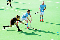 Action from the men's premier one Wellington Hockey match between Dalefield and Indians at National Hockey Stadium in Wellington, New Zealand on Saturday, 13 June 2020. Photo: Dave Lintott / lintottphoto.co.nz