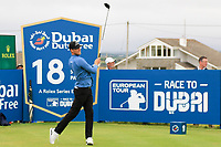 Niklas Lemke (SWE) on the 18th tee during the 3rd round of the Dubai Duty Free Irish Open, Lahinch Golf Club, Lahinch, Co. Clare, Ireland. 06/07/2019<br /> Picture: Golffile | Thos Caffrey<br /> <br /> <br /> All photo usage must carry mandatory copyright credit (© Golffile | Thos Caffrey)
