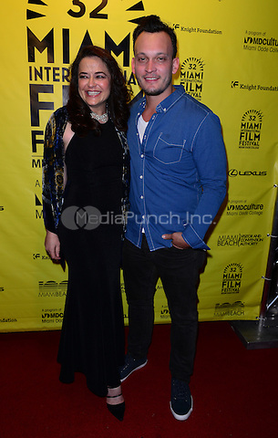 SUNRISE, FL - MARCH 13: Producer Karyn Rachtman and Director & Producer Ben Patterson attends Miami Dade College Miami International Film Festival - 'Sweet Micky for President' - Screening at O Cinema Miami Beach on March 13, 2015 in Miami, Florida. Credit: MPI10 / MediaPunch