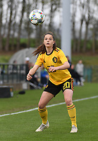 20190403  - Tubize , BELGIUM : Belgian Constance Brackman pictured during the soccer match between the women under 19 teams of Belgium and Switzerland , on the first matchday in group 2 of the UEFA Women Under19 Elite rounds in Tubize , Belgium. Wednesday 3 th April 2019 . PHOTO DIRK VUYLSTEKE / Sportpix.be