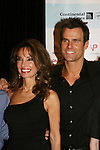 All My Children's Susan Lucci and Cameron Mathison attend the after party of ABC and SOAPnet's Salutes to Broadway Cares/Equity Fights Aids on March 9, 2009 at the New York Marriott Marquis, New York, NY.  (Photo by Sue Coflin/Max Photos)